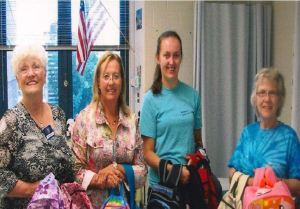 Donating brand new backpacks filled with school supplies to local elementary schools with the help of amazing school nurses.